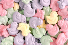 Animal shaped easter candy. Mouth watering animal theme hard candy . abstract, easter, pink, green, lavendar, multicolored, full frame, Colorful pastel tart & stock photo