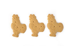 Animal shaped salty cracker Royalty Free Stock Image