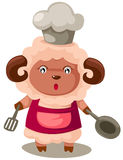 Animal sheep  cooking Stock Image