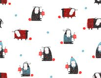 Animal Sheep Funny Pattern Cartoon Background Royalty Free Stock Images