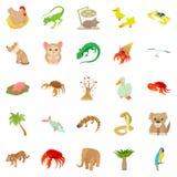 Animal shelter icons set, cartoon style. Animal shelter icons set. Cartoon set of 25 animal shelter vector icons for web isolated on white background Stock Image