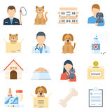 Animal shelter set royalty free illustration