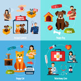 Animal shelter set Stock Images