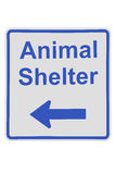 Animal shelter sign Royalty Free Stock Image