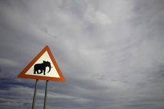 Animal signpost Royalty Free Stock Photography