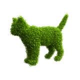 Animal silhouette of green leaves. Cat. Animal silhouette of green leaves. Cat Stock Photography