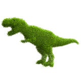 Animal silhouette of green leaves. Dinosaur. Stock Photography