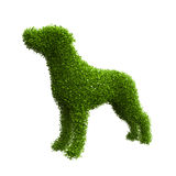 Animal silhouette of green leaves. Royalty Free Stock Photo