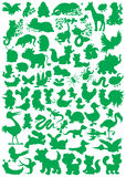 Animal silhouettes stock illustration