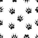 Animal - silhouettes d'empreintes de pas d'oiseaux et de mammifères réglées sur le fond blanc Photographie stock libre de droits