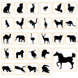Animal silhouettes set Stock Images