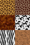 Animal skin seamless pattern set Royalty Free Stock Image