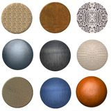 Animal Skin Web Buttons And Ba. Ll Designs Stock Photo