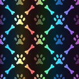 Animal spectrum seamless pattern of paw footprint Royalty Free Stock Photography
