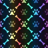 Animal spectrum seamless pattern of paw footprint Royalty Free Stock Photography