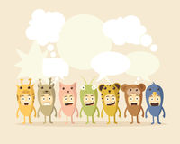 Animal and Speech Bubbles Royalty Free Stock Photography