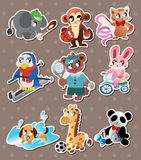 Animal sport player stickers Stock Photo