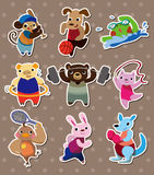Animal sport stickers Royalty Free Stock Photo