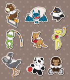 Animal sport stickers Stock Image