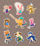 Animal sport stickers Stock Photos