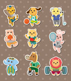 Animal sport stickers Royalty Free Stock Photography