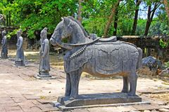 Animal Statue In Hue Imperial Tomb of Emperor Thieu Tri, Hue Vietnam UNESCO World Heritage Site. The imperial tomb of Thieu Tri is located very close to the Royalty Free Stock Photo