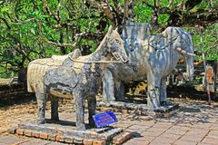 Animal Statue In Hue Imperial Tomb of Tu Duc, Vietnam UNESCO World Heritage Site. The imperial tomb of Tu Duc is considered to be the most beautiful Imperial Royalty Free Stock Images