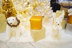 Animal statues, Christmas decoration Stock Photos