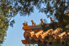 Animal statues in the Summer Palace Stock Photography