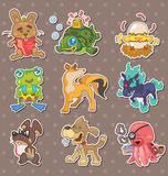 Animal stickers. Cartoon vector illustration Royalty Free Stock Photos