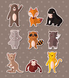 Animal stickers Royalty Free Stock Photos