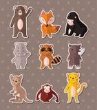 Animal stickers Royalty Free Stock Photos