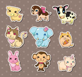 Animal stickers Royalty Free Stock Photography