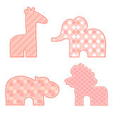 Animal stickers patchwork elements Royalty Free Stock Photos