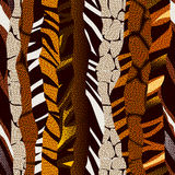 Animal strikes pattern in brown colors Stock Photo