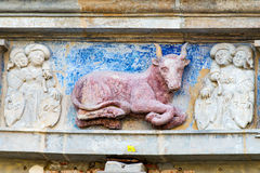 Animal stucco on a house Stock Images