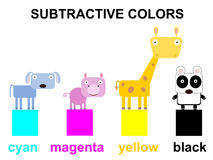 Animal subtractive colors Stock Image