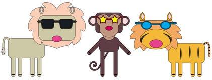 Animal sunglasses Royalty Free Stock Photo