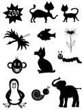 Animal symbols vector illustration