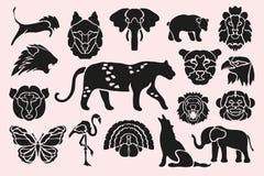 Animal symbols set Royalty Free Stock Photos