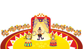 Animal tamer in circus Stock Photos