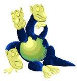 Animal three-headed dragon character cartoon style  Stock Photography