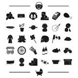 Animal, tool, equipment and other web icon in black style. food, transport icons in set collection. Royalty Free Stock Image