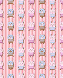 Animal toy vertical seamless pattern Royalty Free Stock Images