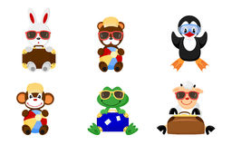 Animal toys traveling Royalty Free Stock Photos