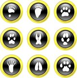 Animal track icons Royalty Free Stock Photos