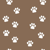 Animal tracks seamless pattern