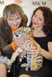 Animal Trainer Karina Bagdasarova Stock Photography