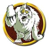 Animal varonil del yeti del zombi stock de ilustración