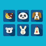 Animal vector icon in flat design Royalty Free Stock Image